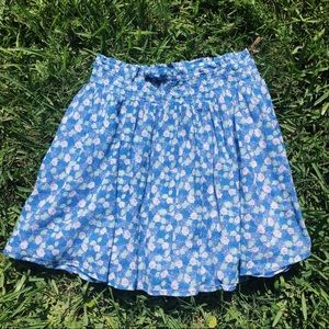 Old Navy Blue Floral Skirt